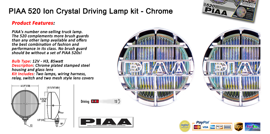 piaa_520 piaa 520 ion crystal front driving lights lamp kit chrome 85 piaa 520 wiring harness at alyssarenee.co